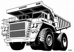 Komatsu 630e Dump Truck Factory Shop  U0026 Service Manual