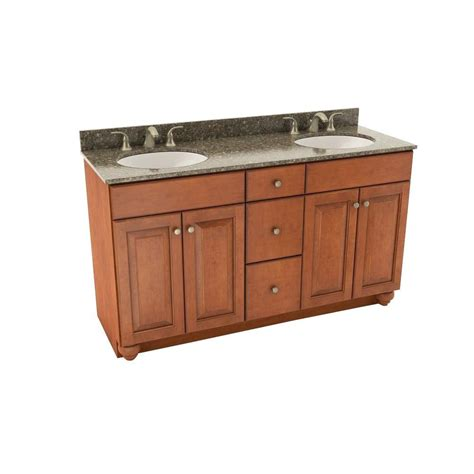 American Woodmark Kitchen Cabinets Home Depot by American Woodmark Charlottesville 61 In Vanity In Cognac