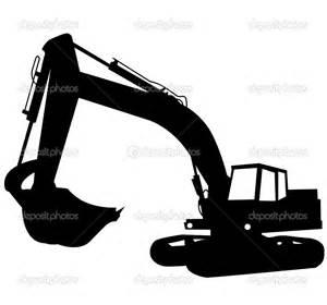 Excavator Silhouette Clip Art
