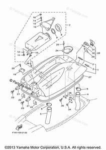 Yamaha Waverunner 2012 Oem Parts Diagram For Engine Hatch