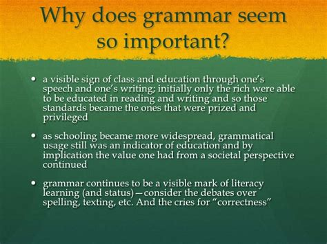 Is Grammar Important by Essays And Grammar