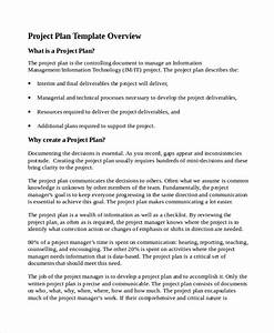 7 it project plan templates sample templates With project plan document template free
