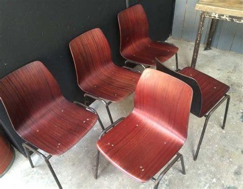 chaise allemande ensemble de 5 chaises pagholz ées 60