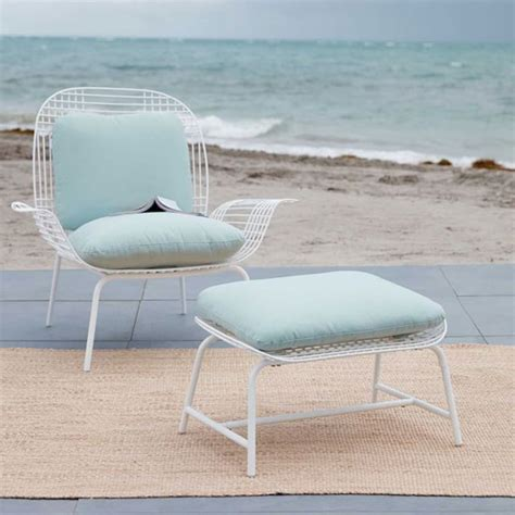 midcentury style palm outdoor lounge chair at west elm
