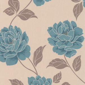 Ella Floral Teal Wallpaper