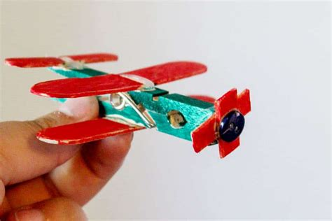 clothespin airplane craft  preschool meraki mother