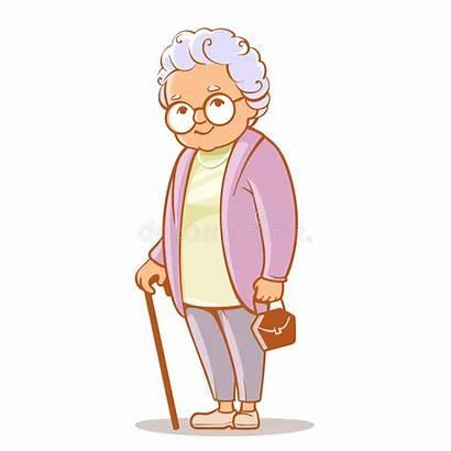 Grandmother Grandma Clip Drawing Hair Grey Lady