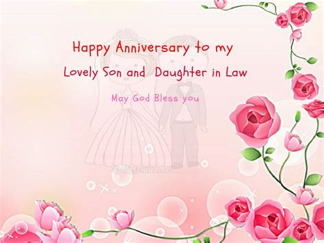 anniversary wishes  son  daughter  law happy wishes