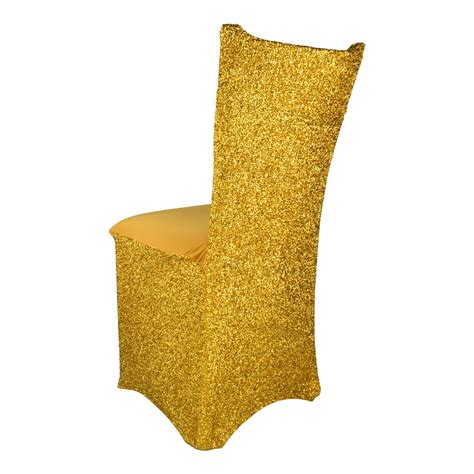 sparkle spandex chair covers 5 pack silver or gold