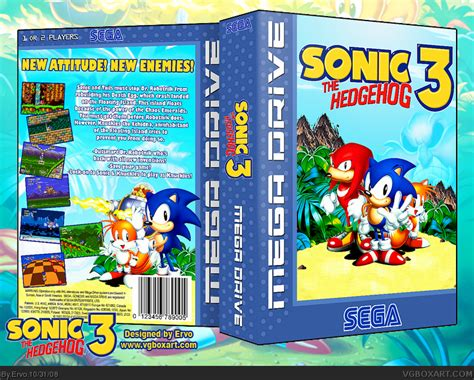 sonic  hedgehog  genesis box art cover  ervo
