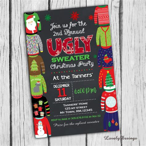 creative christmas party invitations 50 sweater ideas oh my creative