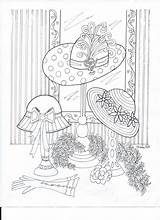 Coloring Hat Pages Printable Adult Theme Hats Colouring Books Adults Sheets Society Re Creations Printables Purple Para Drawing Fun Visit sketch template