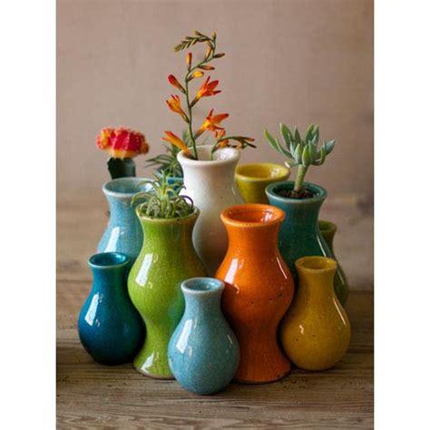 Colorful Decorative Vases by Multi Colored Ceramic Vases Set Of 13 Kalalou Vases Vases