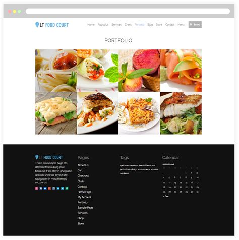 site cuisine chef lt food court free responsive food order food court