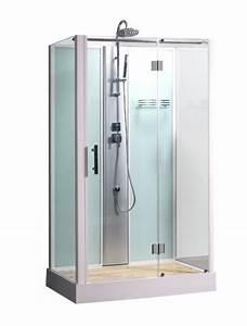 Cabine De Douche Rectangulaire : cabine de douche integrale rectangulaire poseidon 80x120 cm ~ Melissatoandfro.com Idées de Décoration