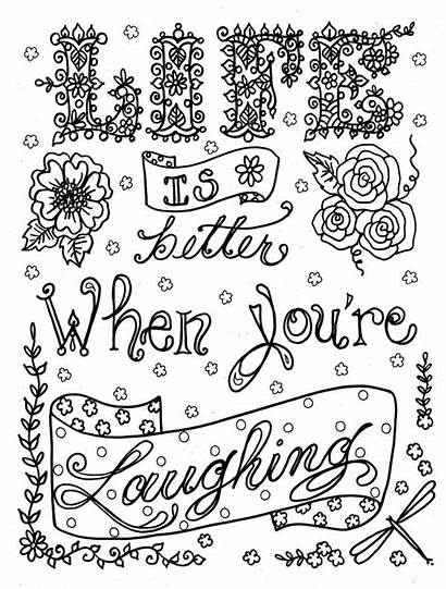 Coloring Sayings Pages Inspirational Popular Brave