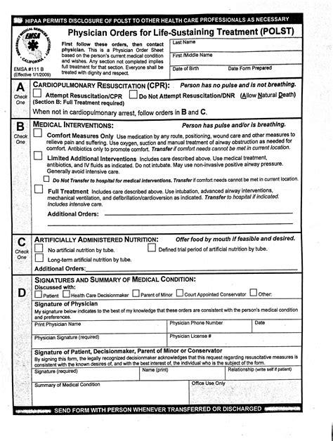 illinois do not resuscitate form 2017 sle polst life matters media