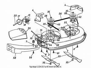 Mtd 13am47gf062  1998  Parts Diagram For Deck Assembly