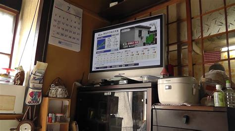 kitchen refrigerator tv small chairs saving space