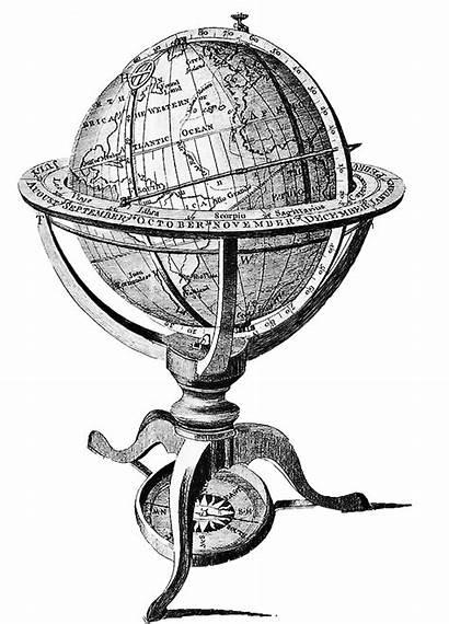 Globe Antique Drawn Hand Domain