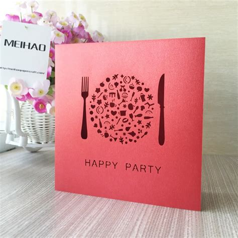 50pcs High Quality Wedding Invitation Card Chinese red