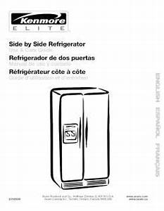 106 57706700 Kenmore Elite Side By Side Refrigerator Manual