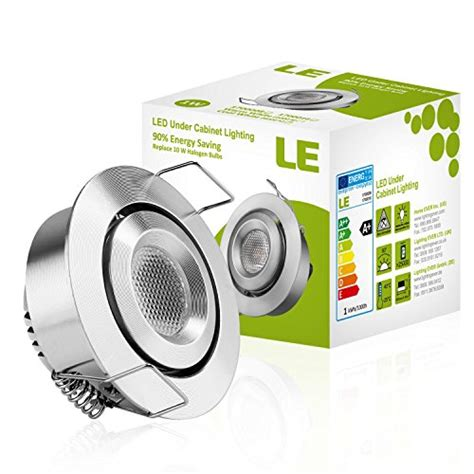 le 1 5 inch led cabinet lighting 1w 12v dc 80lm 10w halogen bulbs new ebay