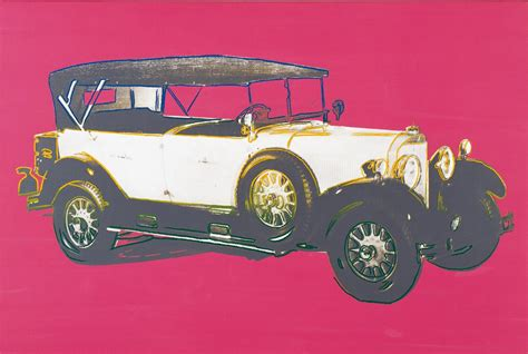 We are interested in the evolution of cars, and show their future. Mercedes 400 Tourenwagen (1925), Andy Warhol 1986 - Daimler Art CollectionDaimler Art Collection