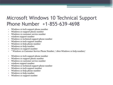 microsoft answer desk phone number ppt 1 855 639 4698 microsoft windows 10 technical