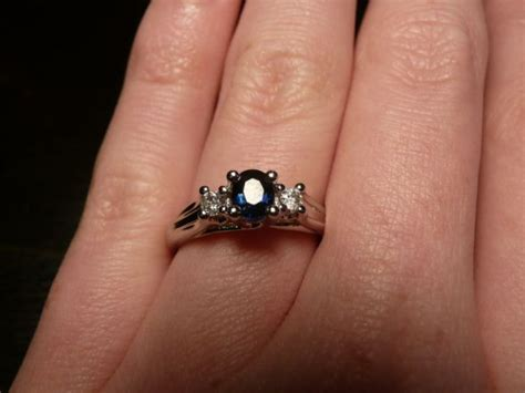 non traditional engagement ring not sure about wedding band