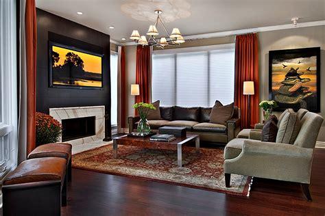 red black  white interiors living rooms kitchens