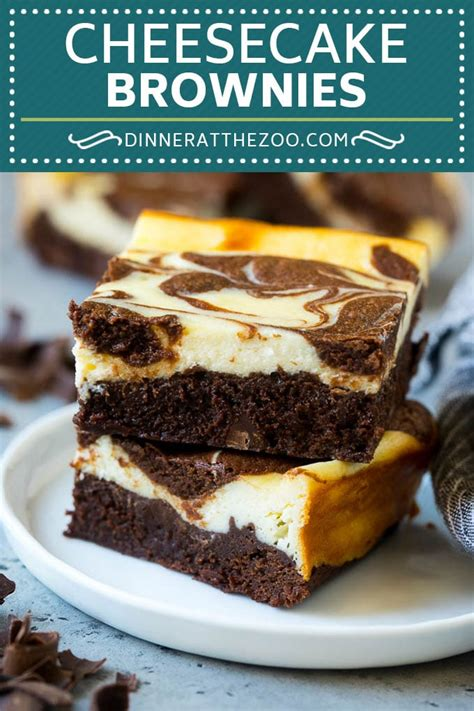 Cheesecake Brownies - Dinner at the Zoo