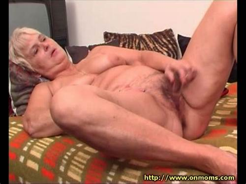 Rubbing That Ass Pie With Her Lone Single Finger #Old #Lady #Rubs #Wet #Dildo #Around #Her #Pussy