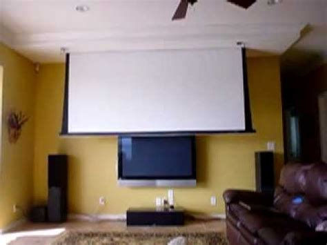 Automatic projector screen YouTube