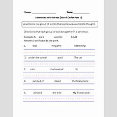Simple Sentences Worksheet Word Order Part 1 Beginner  Englishlinxcom Board Pinterest