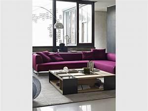 amenager son salon un canape colore pour un decor style With tapis de course avec canapé d angle gautier