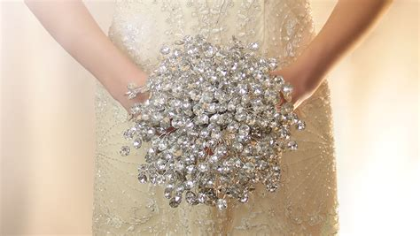 Beautiful Crystal Wedding Bouquets Perfect For The