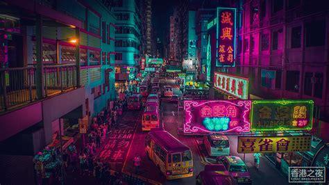 photographer captures neon streets  hong kong  tokyo