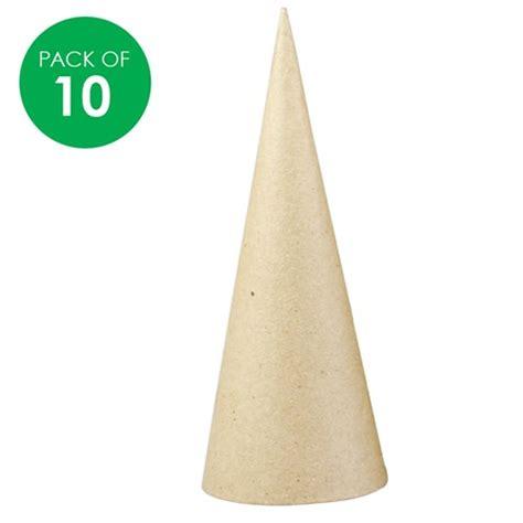 papier mache cones pack   papier mache