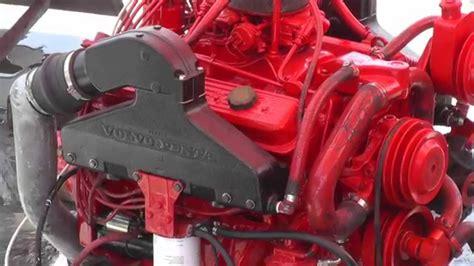 rebuilt volvo penta  marine engine ticking  youtube