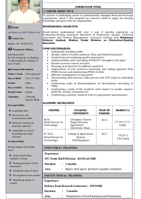 cv cuisine sle resume for quality best account manager