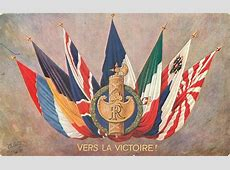 VERS LA VICTOIRE! seven flags of World War I allies