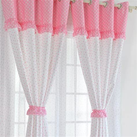 pink and white curtains pink cotton curtains home the honoroak