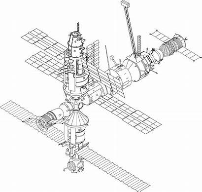 Clipart Space Sketch Station Vector Mir Domain
