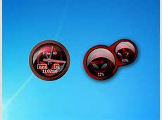 Red Alienware Clock And Cpu Meter Windows 7 Desktop Gadget