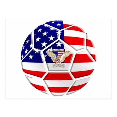 gifts for soccer fans usa united states soccer ball gifts for fans postcard zazzle