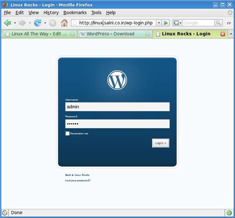 install wordpress  lamp tech stuff