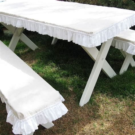 lace table picnic table covers home decor jute burlap linen lace