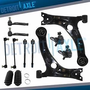 Brand New 10pc Complete Front Suspension Kit For Toyota