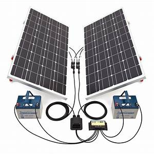 Biard 200w Silver Solar Panel Kit With Adjustable Frames